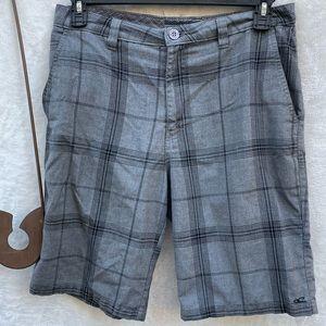 O'Neill Plaid Shorts Gray Black